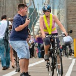The Routine of Tourist-Cyclist Clashes on the Brooklyn Bridge