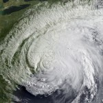 Cat. 1 Hurricane Irene Seen from Space