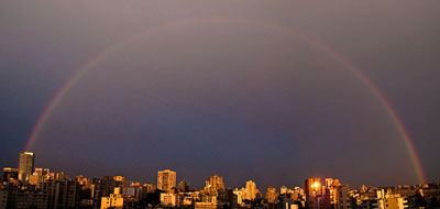 The rainbow that reached across a continent