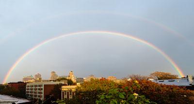 Full double rainbow over Brooklyn