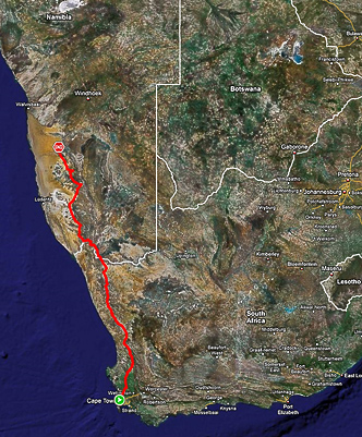 Cape Town to the Namib Desert – A stretch?